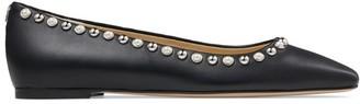 Jimmy Choo Mirele Studded Leather Flats