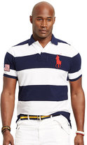 Polo Ralph Lauren Big & Tall Classic-Fit Striped Mesh Polo Shirt