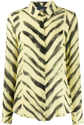 Class Roberto Cavalli Zebra Print Loose-Fit Shirt