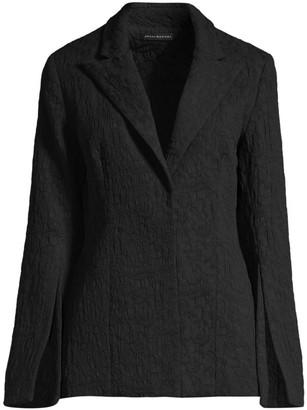 Josie Natori Textured Split Sleeve Blazer