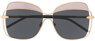 Pomellato Eyewear Two-Tone Oversized Frame Sunglasses