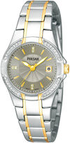 Pulsar Womens Crystal-Accent Two-Tone Stainless Steel Bracelet Watch PH7294