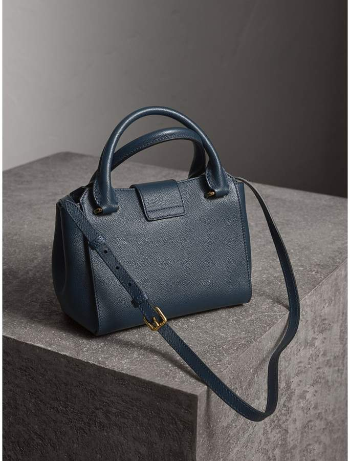 Burberry The Small Buckle Tote in Grainy Leather