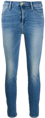 Frame Low-Waist Skinny Jeans