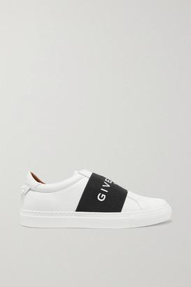 Givenchy Urban Street Logo-print Leather Slip-on Sneakers - White