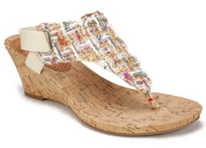 White Mountain Women's All Good Cork Wedge Sandals Women's Shoes
