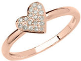 Lord & Taylor 14Kt Rose Gold and Diamond Heart Ring