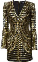 Balmain sequin mini dress - women - Silk/Acrylic/Nylon - 40