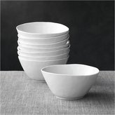 "Crate & Barrel Set of 8 Mercer 6.25"" Bowls"