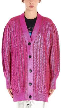 MSGM Buttoned Cable Knit Cardigan