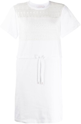 See by Chloe drawstring waist T-shirt dress
