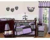 JoJo Designs Purple and Black Kaylee Window Treatment Panels by Sweet Set of 2