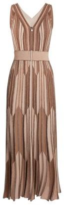 D-Exterior D.Exterior Sleeveless Lurex Midi Dress