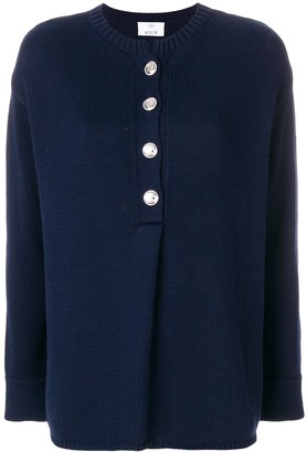 Allude Buttoned Knit Jumper