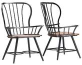 Baxton Studio Longford Industrial Dining Arm Chair (Set Of 2)