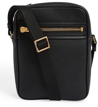 Tom Ford Small Leather Buckley Messenger Bag