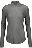 Majestic Ribbed Cotton, Cashmere And Silk-Blend Top