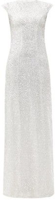 Galvan Estrella Sequinned Dress - Silver