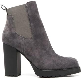 Hogan block-heel Chelsea boots