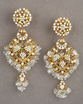 White Chandelier Earrings