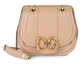 Dolce & Gabbana Girls Leather Saddle Bag
