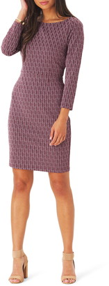Leota Shelly Jacquard Sheath Dress