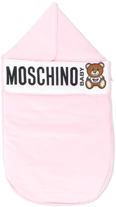 MOSCHINO BAMBINO Teddy logo-print sleep bag