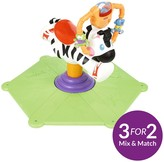 Fisher-Price Bounce & Spin Zebra - Black