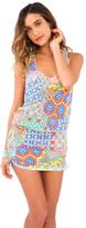 Luli Fama Siren Dance T-Back Mini Dress in Multi-color (L486979)