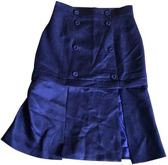 Barbara Casasola Purple Wool Skirt for Women