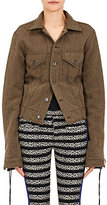 Haider Ackermann Women's Lace-Up Denim Jacket-TAN