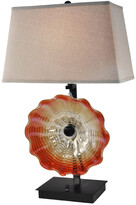 Dale Tiffany Springdale By Springdale 28.5In Titan Hand Blown Art Glass Table Lamp