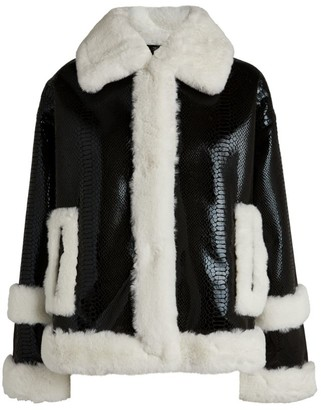 Stand Hester Vinyl Faux Shearling Jacket