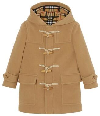 BURBERRY KIDS Wool Duffle Coat (3-12 Years)