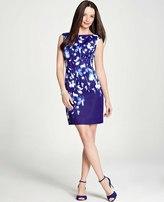 Ann Taylor Shadow Floral Sheath Dress