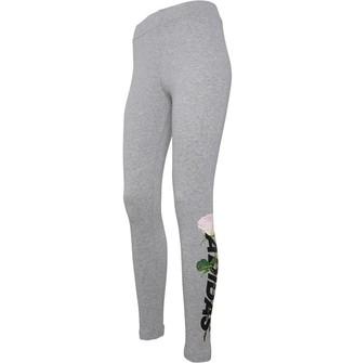 adidas Womens Work In Progress Floral Leggings Medium Grey Heather