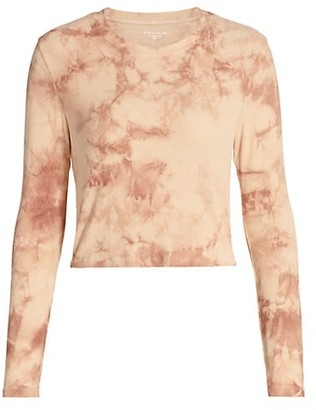 YEAR OF OURS Tie-Dye Rib-Knit Long-Sleeve Sleep Shirt
