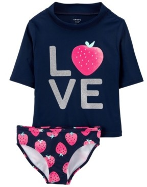 Carter's Little Girls Love Rashguard Set, 2 Piece