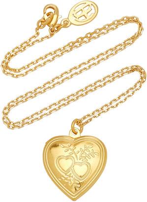 Ben-Amun Women's Heart Locket Gold-Plated Necklace - Gold - Moda Operandi