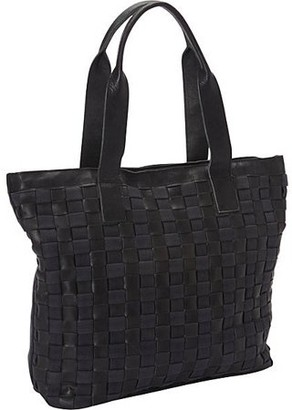 Sharo Weaved Leather and Canvas Tote