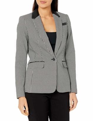Calvin Klein Women's Gingham One Button Jacket