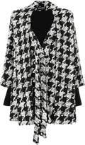 Balmain houndstooth cape coat