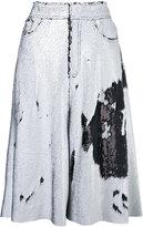Marques Almeida Marques'almeida - sequin embellished wide leg shorts - women - Spandex/Elastane/Acetate/Cupro/Rayon - XXS