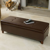 JCPenney Carrington Bonded Leather Storage Bench with Nailhead Trim