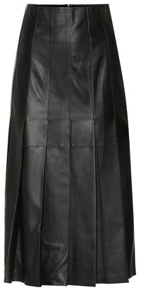 Joseph Semry pleated leather midi skirt