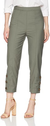 C/Meo Women's Cropped HIGH Waisted Tailored Pant W Buttons at Hem