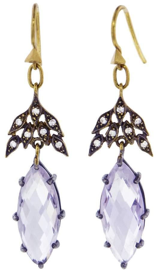 Cathy Waterman Rose Of France Winged Earrings