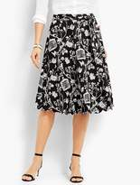 Talbots Scallop-Edge Skirt