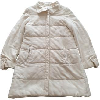 Emmanuelle Khanh Ecru Coat for Women Vintage