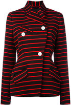 Proenza Schouler wrap front striped jacket - women - Cotton/Viscose/Wool - 4